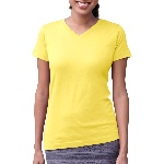 Ladies V-Neck Longer Length T-Shirt