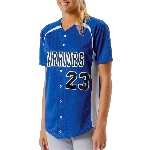 Full Button Power Mesh Softball Top