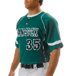 Adult 2-Button Power Mesh Baseball Top