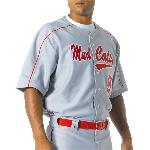 Mens Warp Knit Baseball Jersey