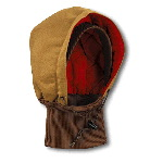 Duck Hood with Knit Collar, Quilted-Flannel Lined