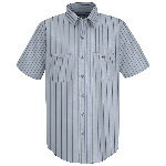 Short Sleeve Poplin Industrial Stripe Shirt