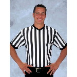 Trim V-Neck Collar Adult Officials Shirt