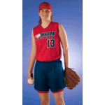 Womens Racer Back Sleeveless Softball Jersey