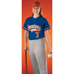 Short Sleeve 2 Button Front Adult Softball Jersey