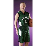 "Two Color 4"" Diagonal Side Womens Basketball Jersey"