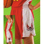 Contrast Color Flared Side Inserts Womens Basketball Short
