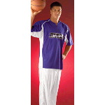 Adult Half-Front Zip Basketball Shooter Shirt