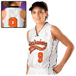 Self-Material Piping Womens Varsity Volleyball Jersey