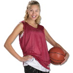 Wide Shoulder Womens Reversible Mesh Tank