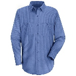 Long Sleeve Broadcloth Industrial Stripe Shirt