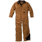 Premium Insulated Brown Duck Coverall, Waist Zip