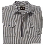 Logger Shirt, Hickory Stripe, Pullover, Short Sleeve