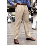 Mens 65/35 Pleated Brushed Twill Slack