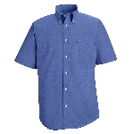 Mens 60/40 Oxford S/S Executive Button Down Shirt