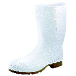 "Rubber Boot, 12"" White Knee Working Boot"