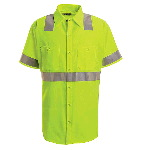 Mens Short Sleeve High Visibility Shirt