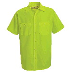 Mens Short Sleeve Shirt Without Reflective Striping