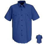 Mens Short Sleeve Industrial Work Shirt