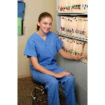 V-neck Poly/Cotton Unisex Scrub Top w/Set in Sleeves