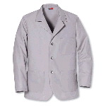 Mens 80/20 3-Button Front Notch Collar Lapel Counter Coat