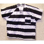 Mens Triple Needle V-Neck Inmate Shirt