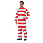 Mens Triple Needle Inmate Jumpsuit, Twill
