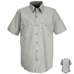 Short Sleeve Wrinkle Resistant Cotton Shirt