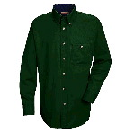 Cotton Contrast Twill Long Sleeve Shirt