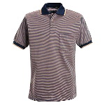 Short Sleeve Striped Knit Shirt - HRC1