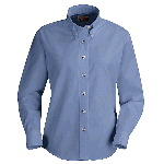 Ladies Long Sleeve Button-Down Poplin Shirt