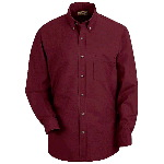 Mens Long Sleeve Button-Down Poplin Shirt