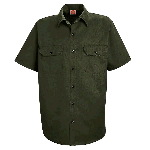 Mens Short Sleeve Utility Work Shirt