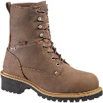 "Mens Snyder Insulated Waterproof 8"" Steel Toe Logger EH Safety Boot"
