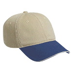 Superior Garment Washed Cotton Twill Sandwich Visor Low Profile Pro Style Two Tone Color Caps