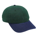 Deluxe Garment Washed Cotton Twill Low Profile Pro Style Two Tone Color Caps