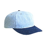Brushed Denim Low Profile Pro Style Two Tone Color Cap