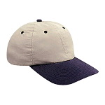 Brushed Cotton Twill Soft Visor Low Profile Pro Style Two Tone Color Caps