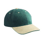Brushed Bull Denim Sandwich Visor Low Profile Pro Style Two Tone Color Caps