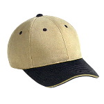 Superior Brushed Cotton Twill Sandwich Visor Low Profile Pro Style Two Tone Color Caps