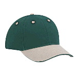 Brushed Cotton Twill Sandwich Visor Low Profile Pro Style Two Tone Color Caps