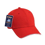 Polyester Q-Max Cool Mesh Sandwich Visor Low Profile Pro Style Caps
