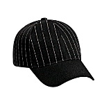 Pin Striped Alternative Wool Blend Low Profile Pro Style Caps with Solid Color Visor