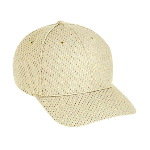 Polyester Pro Mesh Gray Undervisor Low Profile Pro Style Caps