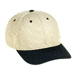 Polyester Pro Mesh Gray Undervisor Low Profile Pro Style Two Tone Color Caps