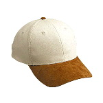 Suede Visor Natural Canvas Low Profile Pro Style Two Tone Color Cap