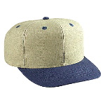 Washed Brushed Heavy Cotton Canvas Pro Style Two Tone Color Caps