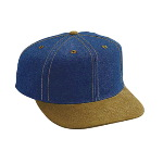 Suede Visor Brushed Denim Pro Style Two Tone Color Cap
