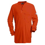 Mens EXCEL-FR Long Sleeve Tagless Henley Shirt