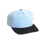 Brushed Denim Pro Style Two Tone Color Caps